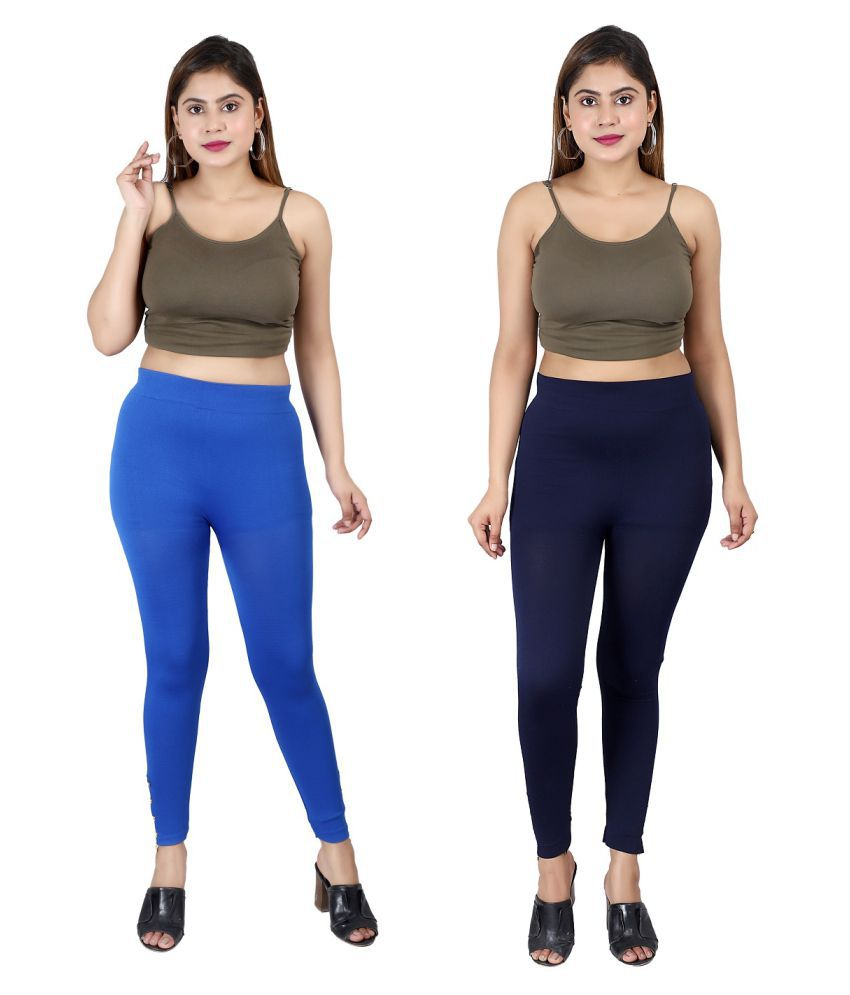 Qitty Cotton Lycra Jeggings - Multi Color