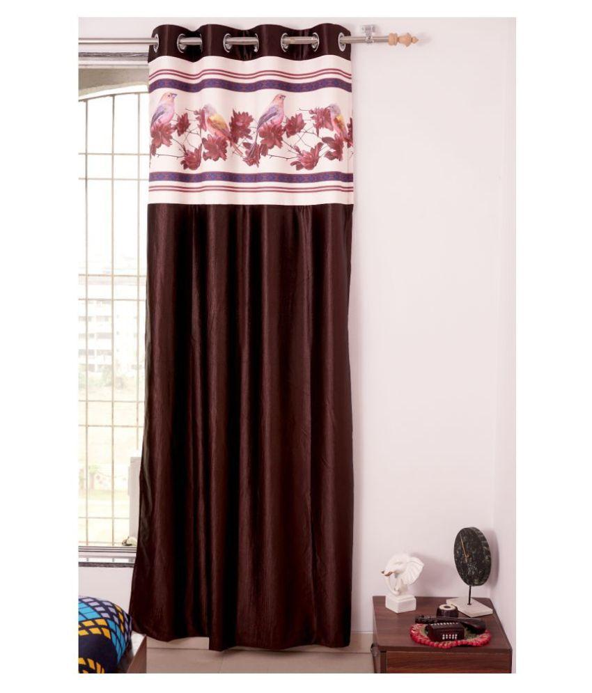 PardaOnline Single Window Blackout Room Darkening Eyelet Polyester Curtains Brown