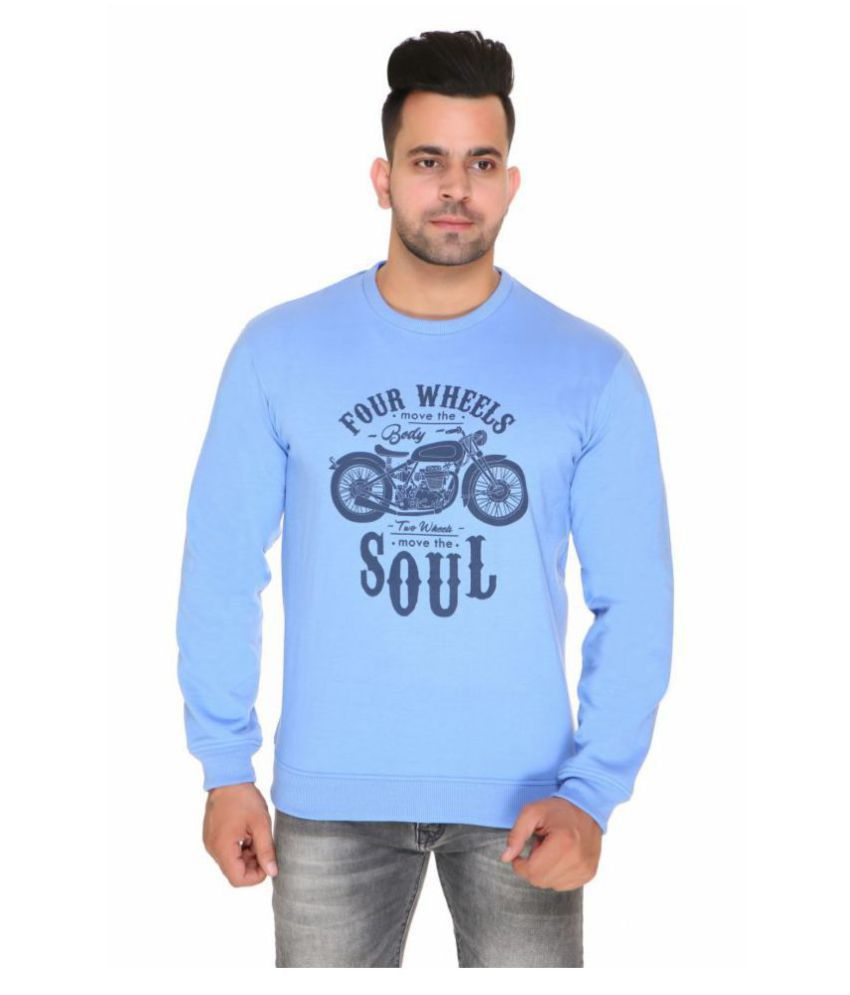 TOPLUCK Blue Sweatshirt