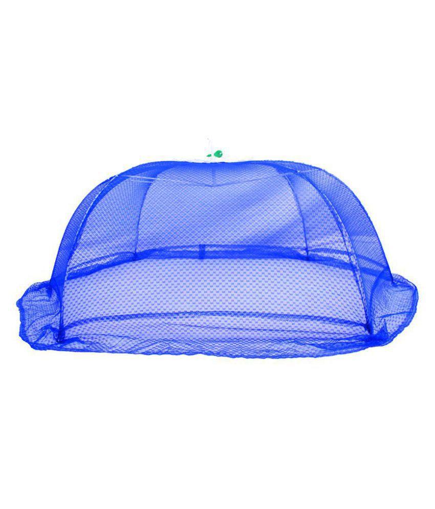 All Habits Blue Nylon Mosquito Net ( 108 cm × 77 cm)