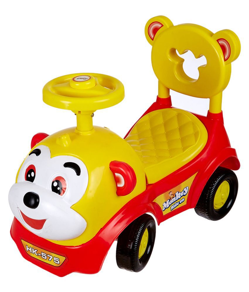 Baby Toy Monkey Ride On , Baby car , Kids car , Toy car , Push Car with Musical Tunes Toy for 1 Year Old Baby (Red)