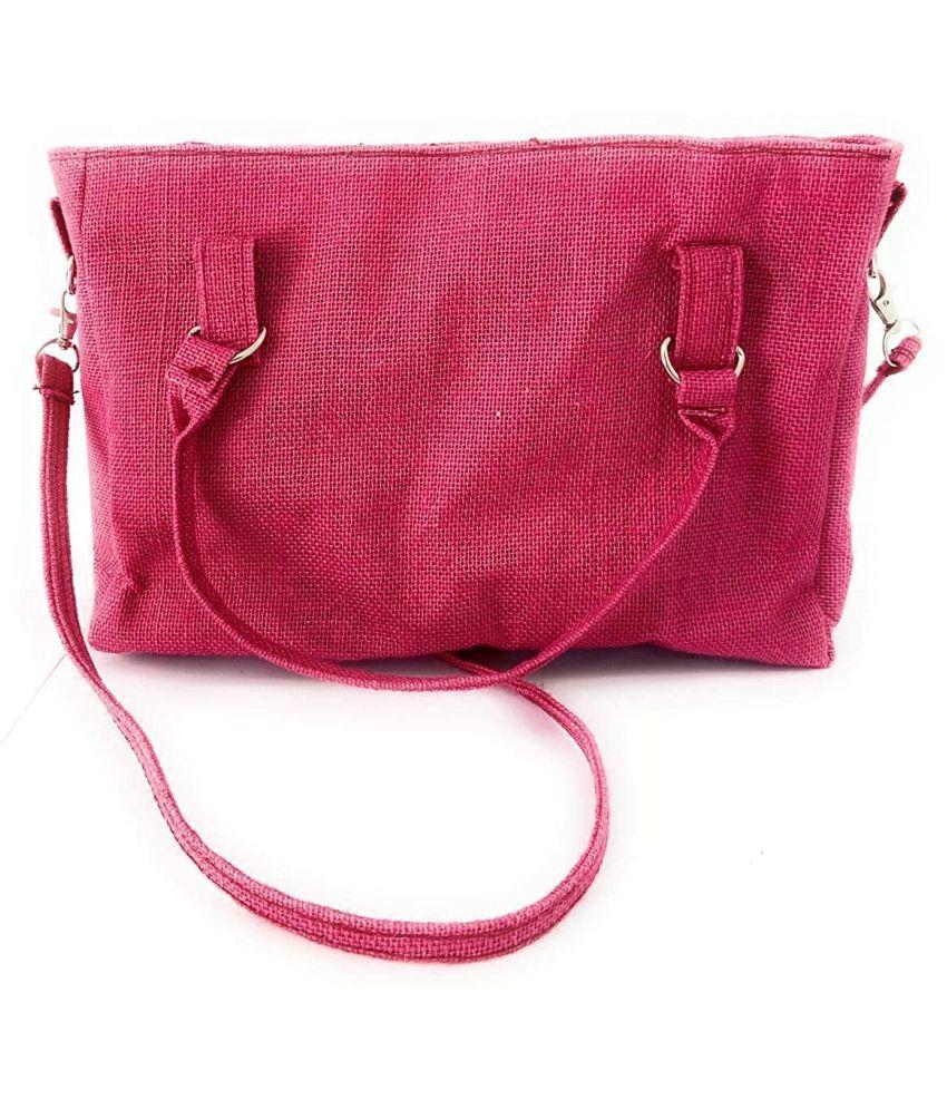 KRAFT B Pink Jute Handheld