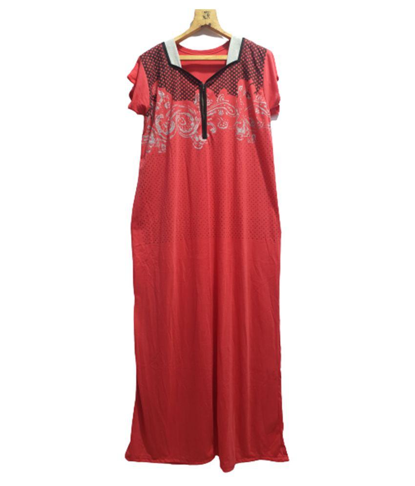 Avenew Fashions Hosiery Nighty & Night Gowns - Pink