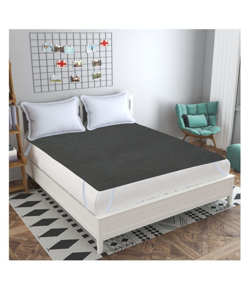 HomeStore-YEP Velvet Waterproof Gray Blends Mattress Protector