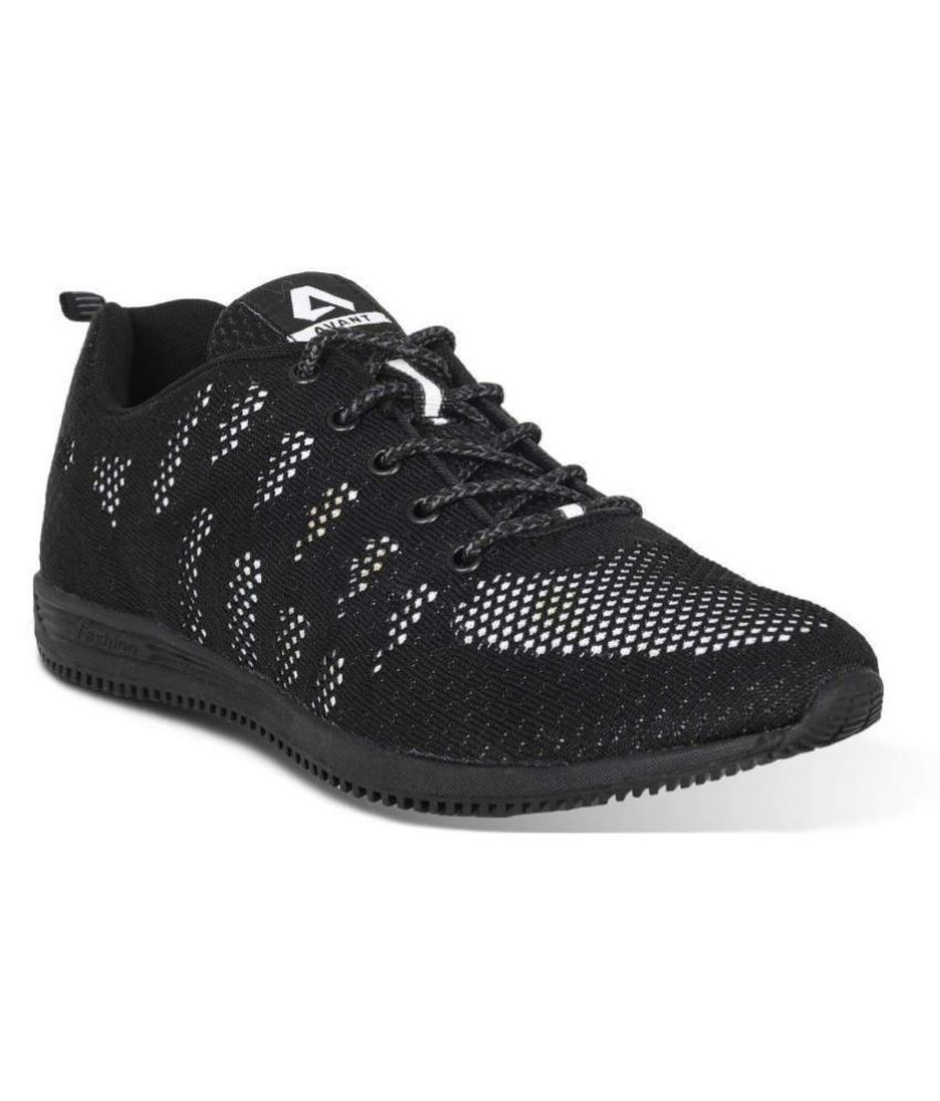 Avant Zest Black Running Shoes