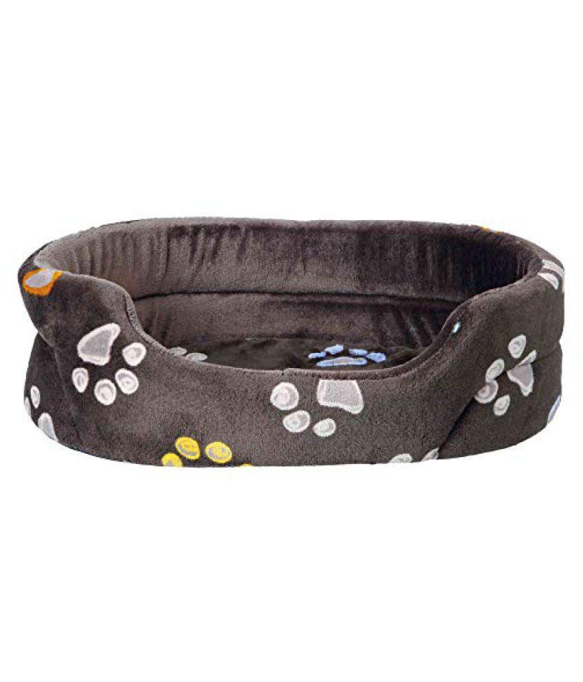Pet Winter Combo for Cat-Barney Fleece Blanket(150X100cm),Black/Grey+Jimmy Bed(45x35cm)+Snapper Jerky Strips Cats Treats(Pack of 2)