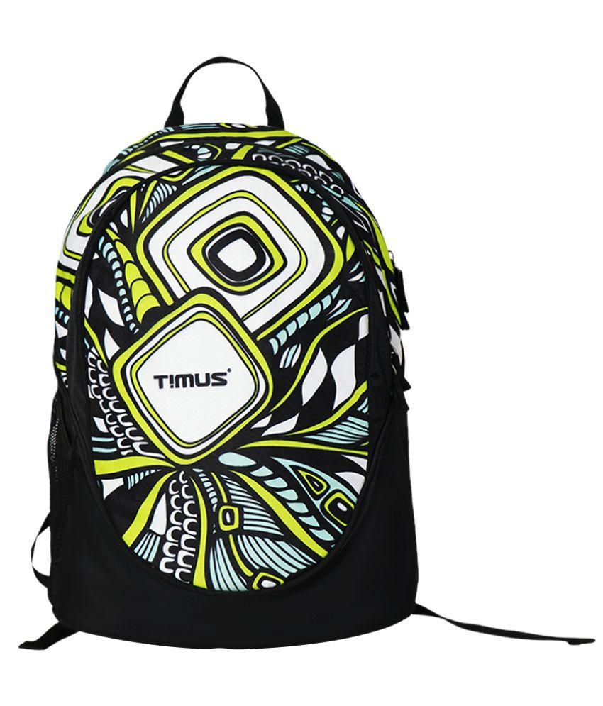 Timus Multi Color Polyester College Bag
