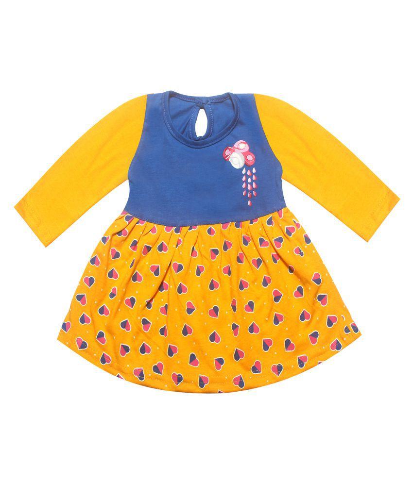 KidzzCart baby girl's cotton frock dress