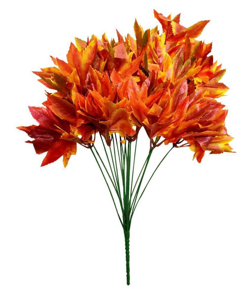 fns store Daisy Orange Artificial Flowers Bunch - Pack of 1