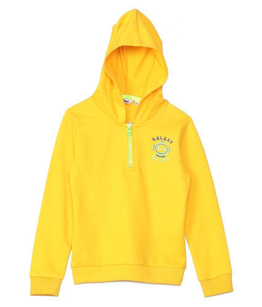 2Bme Kids Boys Cotton solid Yellow Sweatshirts