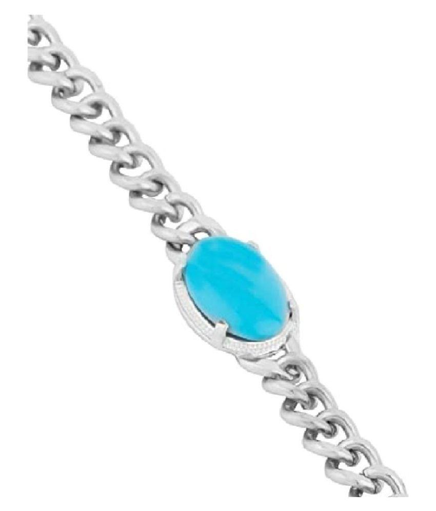 Kundli Gems - Salman Khan Original Turquoise (Firoza)Sterling Silver brecelet