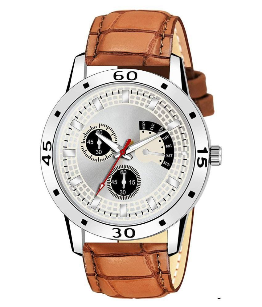AMINO KJR_141 Leather Analog Men's Watch