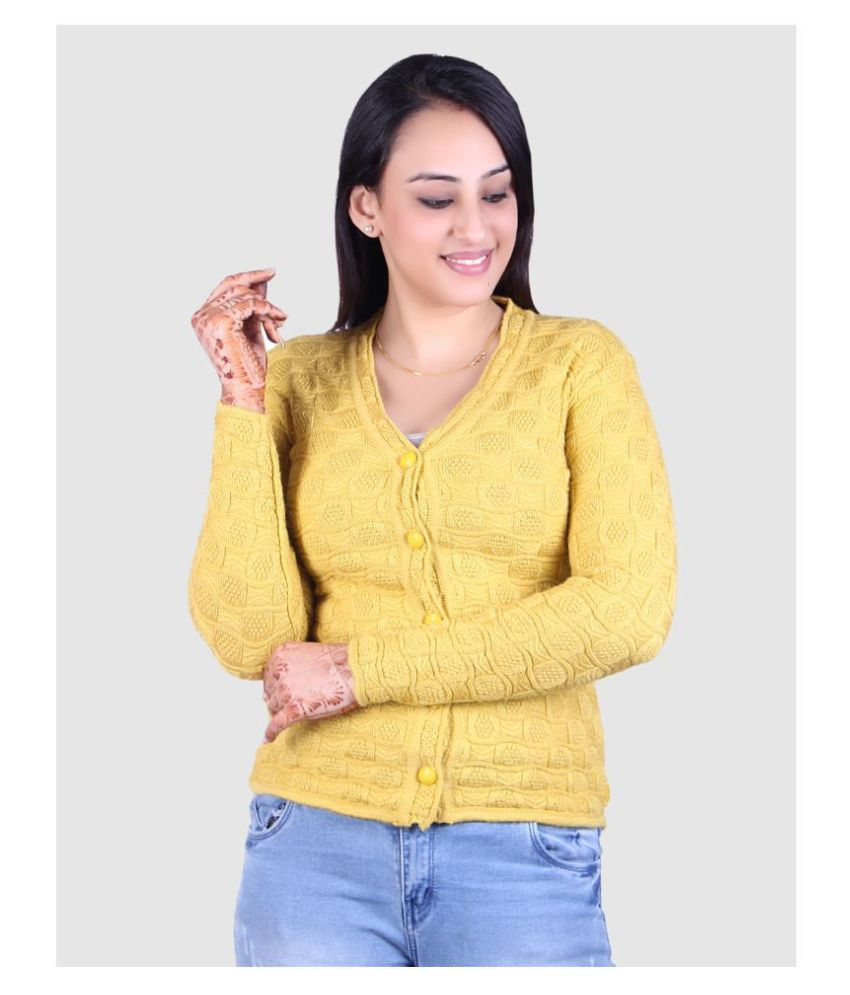 Ogarti Acrylic Yellow Pullovers