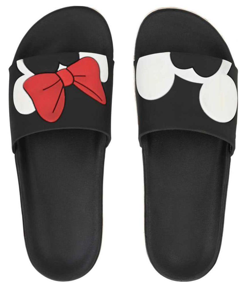 layasa Black Slippers