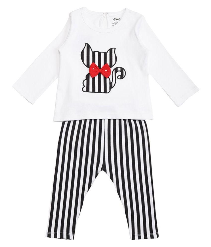 2Bme Solid Infant Girls Co-Ordinates (Black)