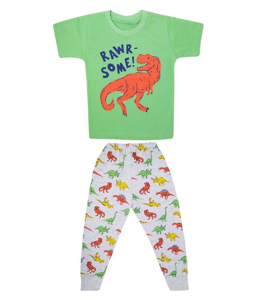 The Boo Boo Club Kid's Boy's  Soft Cotton Half Sleeves T-Shirt with Pant/Pyjama Set