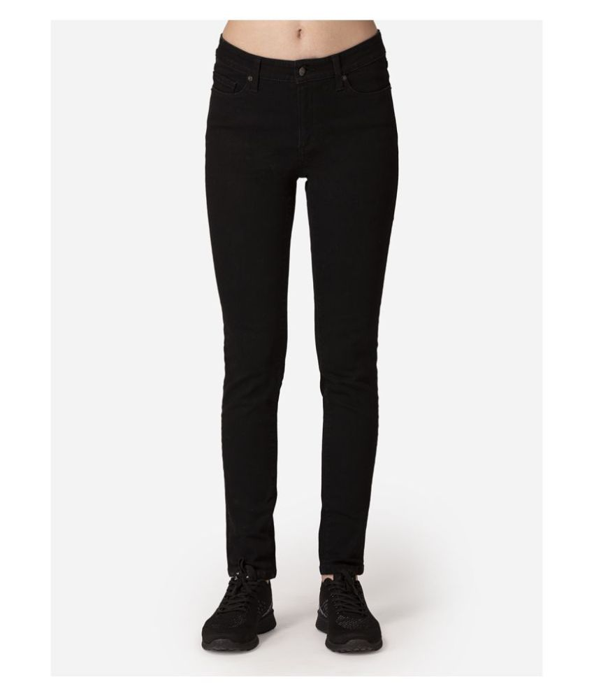 Mode By Red Tape Cotton Lycra Jeans - Black