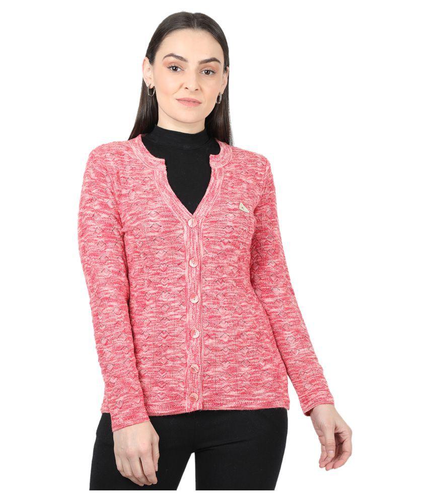 Monte Carlo Pure Wool Pink Cardigans Dress