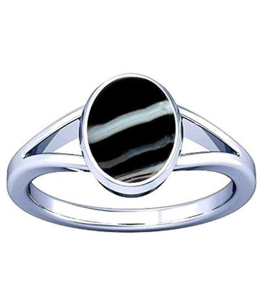 Sulemani Hakik ring natural kala akik panchdhatu ring original certified astrology elegant energized agate haqiq stone adjustable silver plated ring