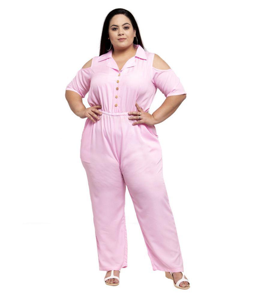 FLAMBEUR Crepe Pink Regular Dress