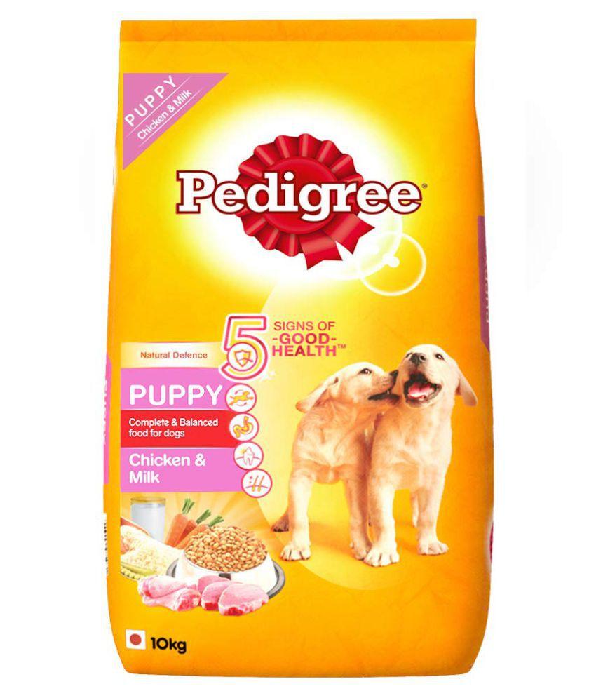 Pedigree Puppy Dry Dog Food, Chicken & Milk, 10kg