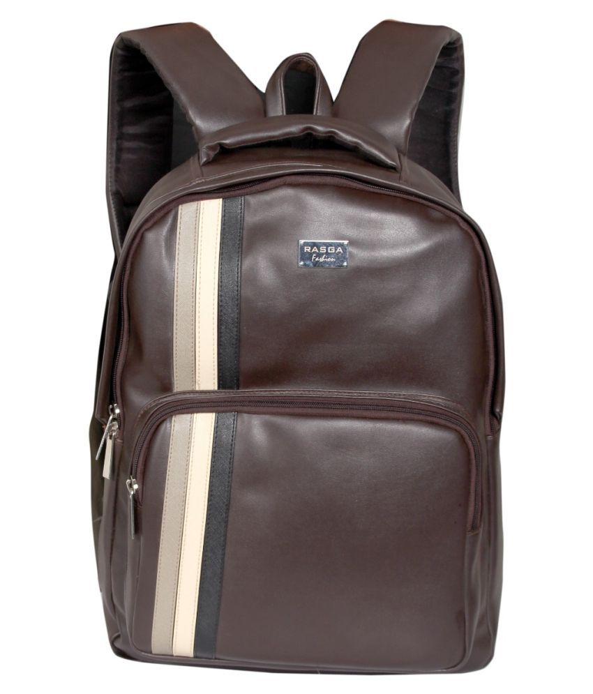 Rasga Brown Synthetic College Bag