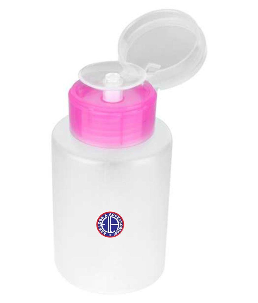 Ear Lobe & Accessories Push Down Acetone Dispenser bottle Nail Paint Remover Pot 0 mL