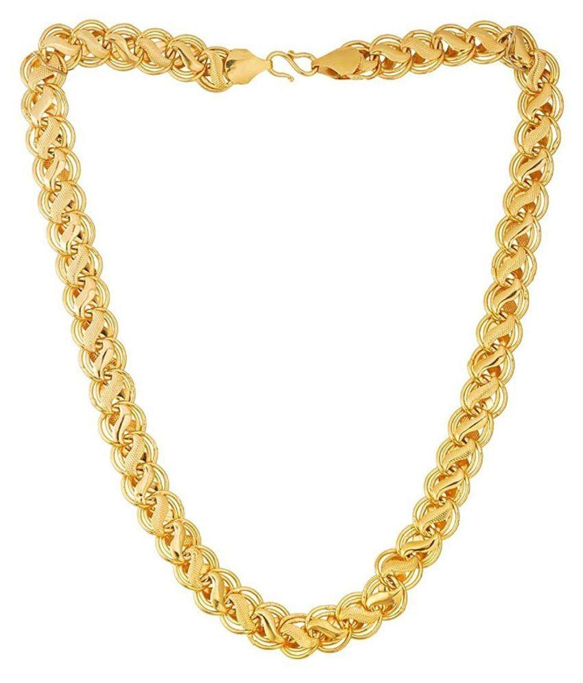 DARE BY GOLDEN ERA  GOLD COLOR LOVE DESIGN CHAIN FOR MEN-1001