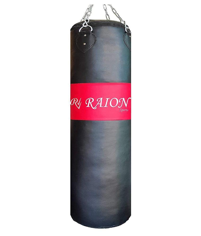 RAION PU Unfilled Premium Boxing Bag (Red & Black) (60 Inches)