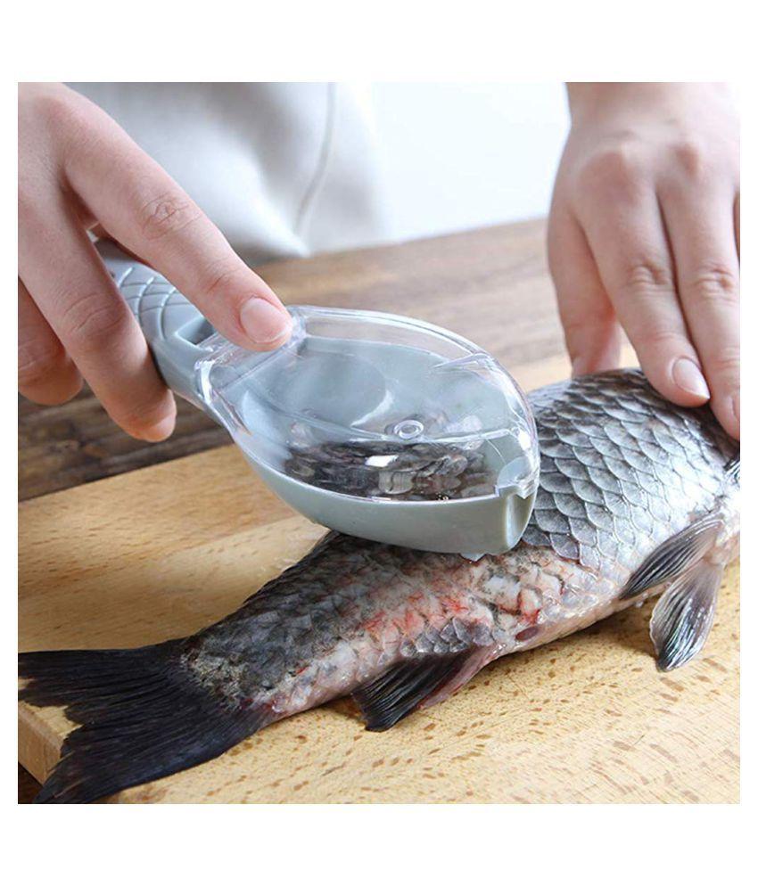 Fish Scale Scraper,Fish Scaler Sawtooth Scale Descaler Scraper Cleaner Fish Scales Brush Shaver Remover Scale Knife Peeler Skin Peeler Fish Tools Kitchen