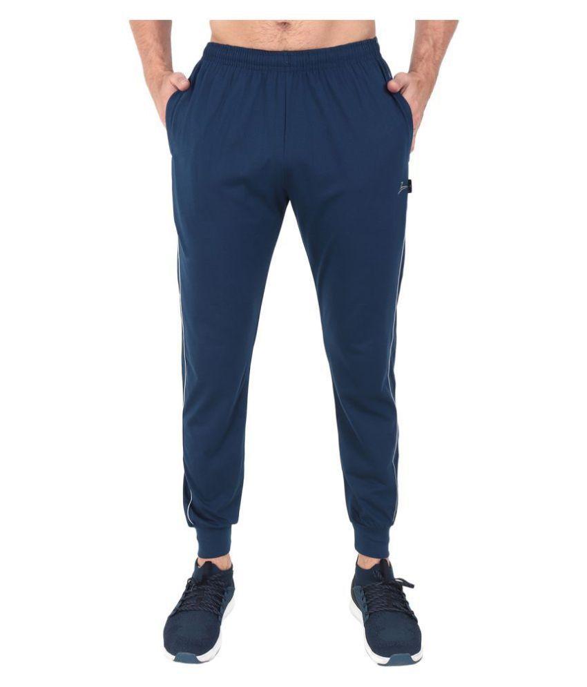 Zeffit Blue Cotton Blend Trackpants Single