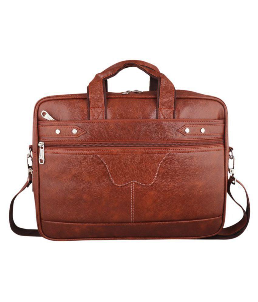 SW Super World Tan Messenger Bag Tan P.U. Casual Messenger Bag
