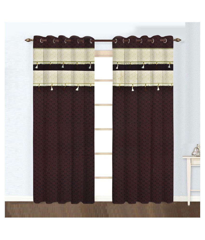 Tanyugg Single Window Blackout Room Darkening Eyelet Polyester Curtains Coffee
