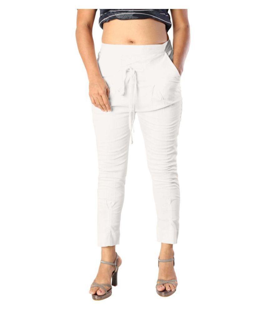 elenia Cotton Jeans - White