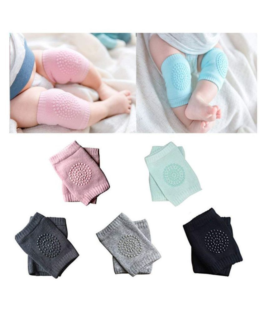 AKS Assorted Coton Baby Knee Pad 1 pcs