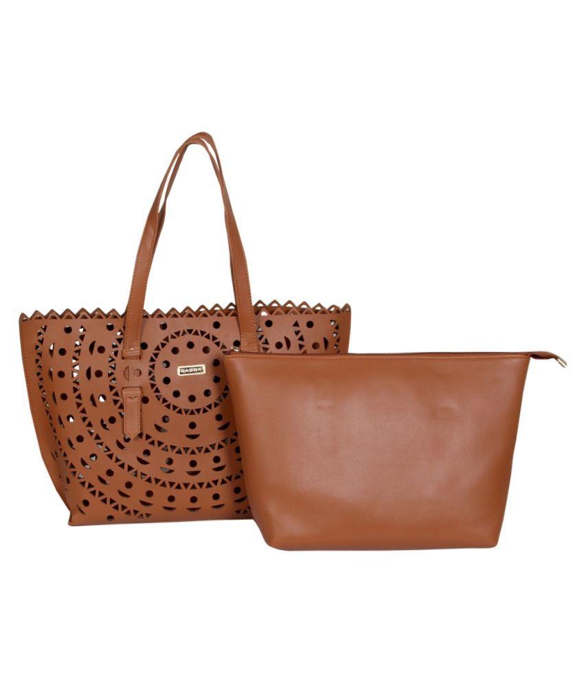 Rasga Brown P.U. Sling Bag