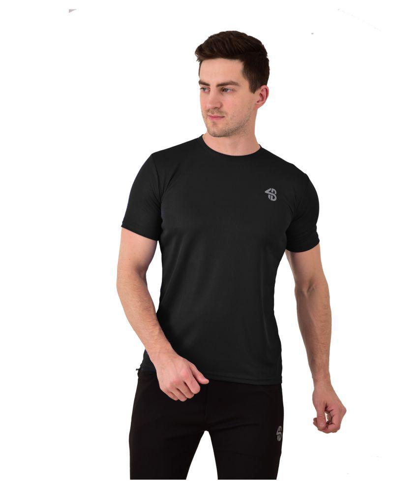 Forbro Black Cotton Blend T-Shirt Single Pack