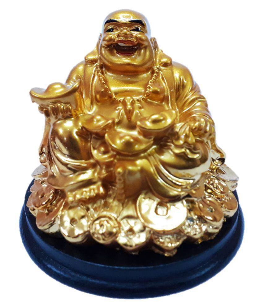 AFTERSTITCH Laughing Buddha showpiece Resin Buddha Idol 7 x 8 cms Pack of 1