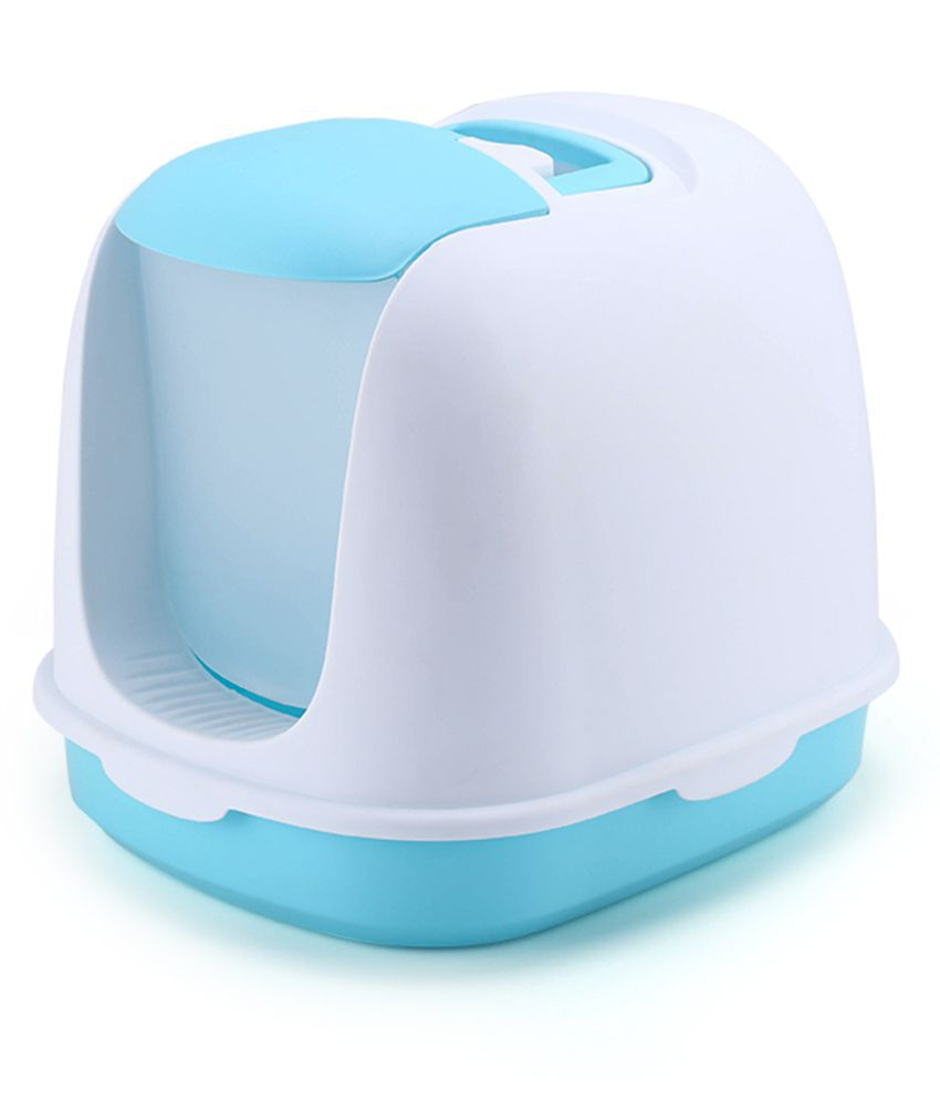 Emily Pet cleaning training enclosed litter box for cats, plastic cat litter box