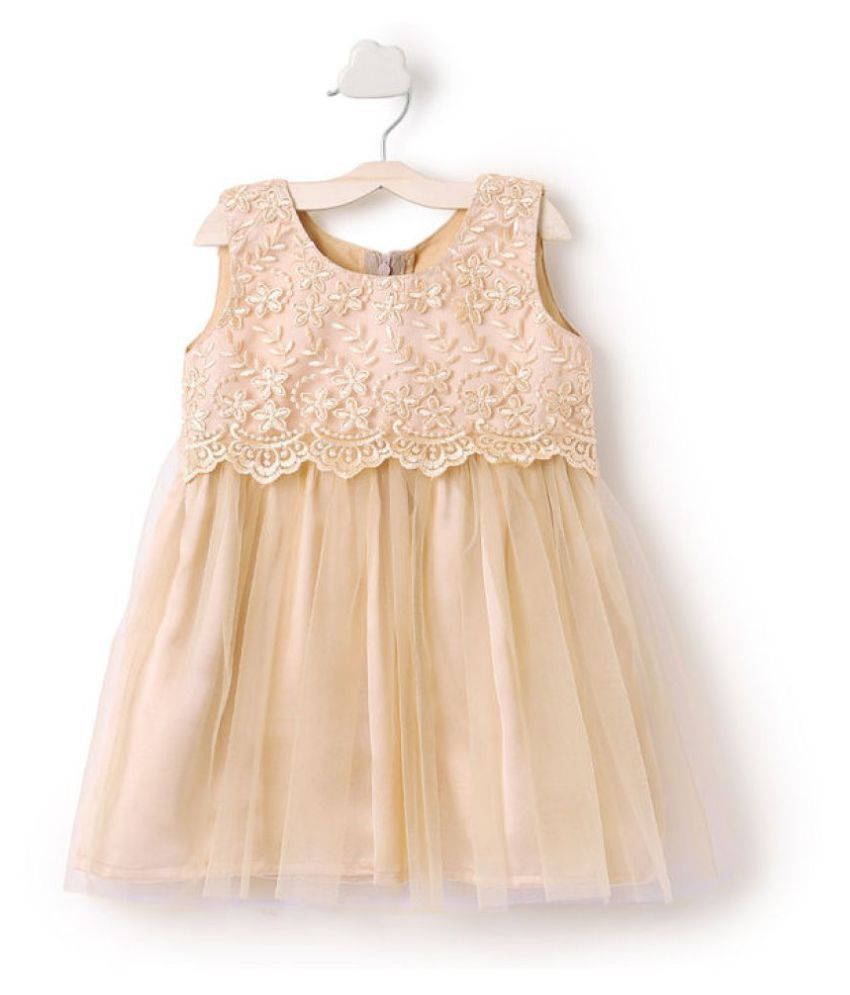 Clobay floral embroidered dress for girls