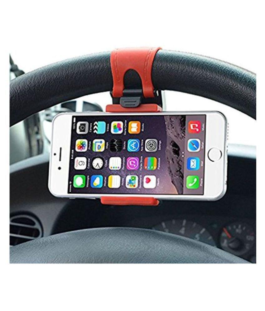 NIMJE Car Mobile Holder Horizontal Clip 268 for Steering   Multicolour