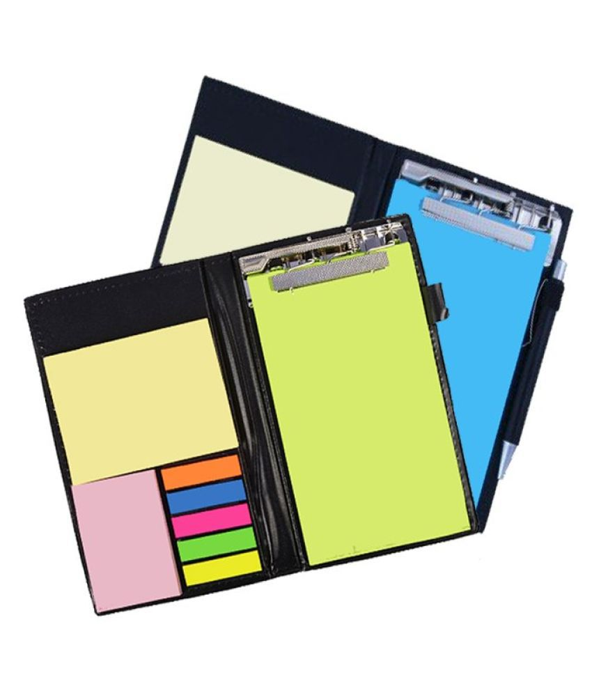 PAPERLLA Memo Neon and Blue Note Pad Organiser/Memo Notebook Holder for Office and Gifting Purpose (Set of 2)