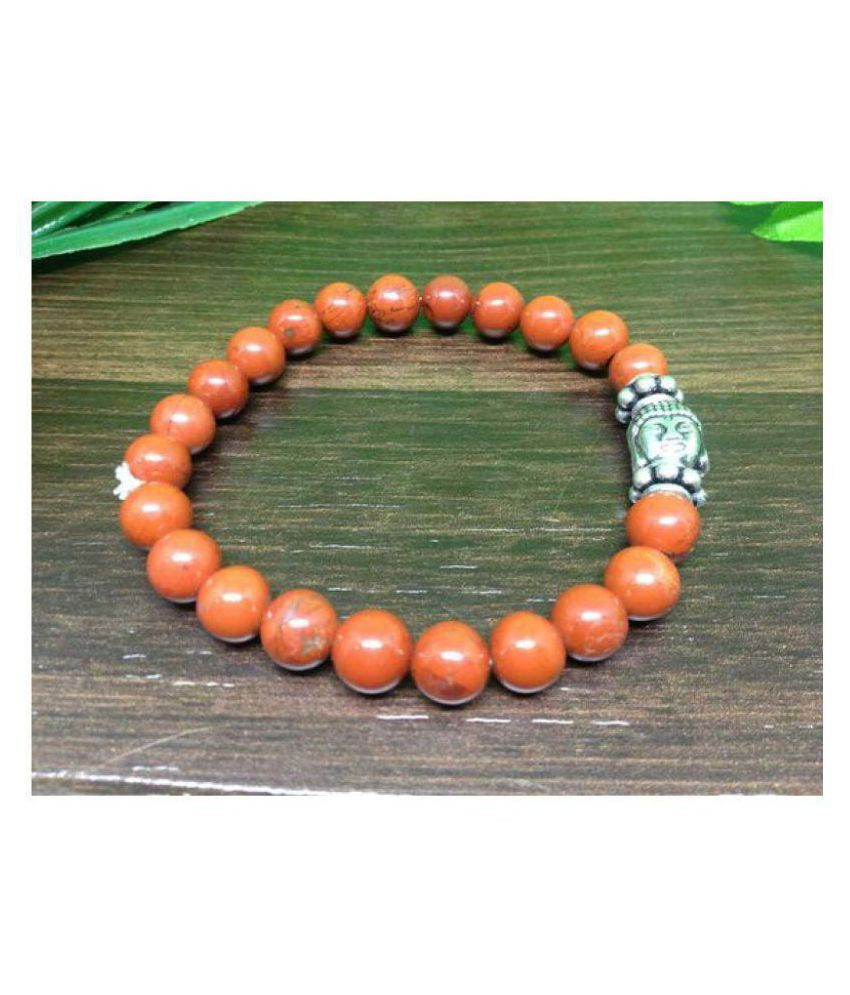 8mm Red Jasper With Buddha Natural Agate Stone Bracelet