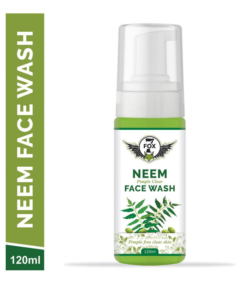 7 FOX Neem Face Wash For Remove All Types Pimples & High Glowing Skin Booster For Men Face Wash 120 mL