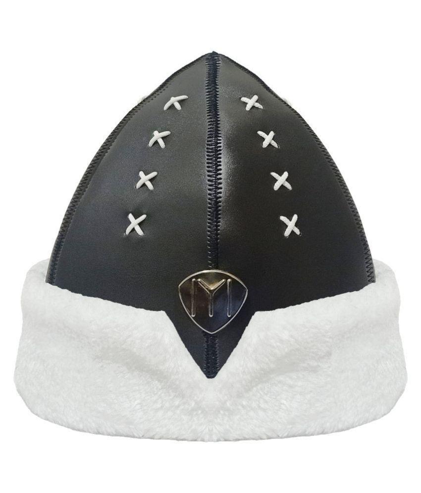 Ertugrul Ghazi Cap Black Embroidered Fur Caps