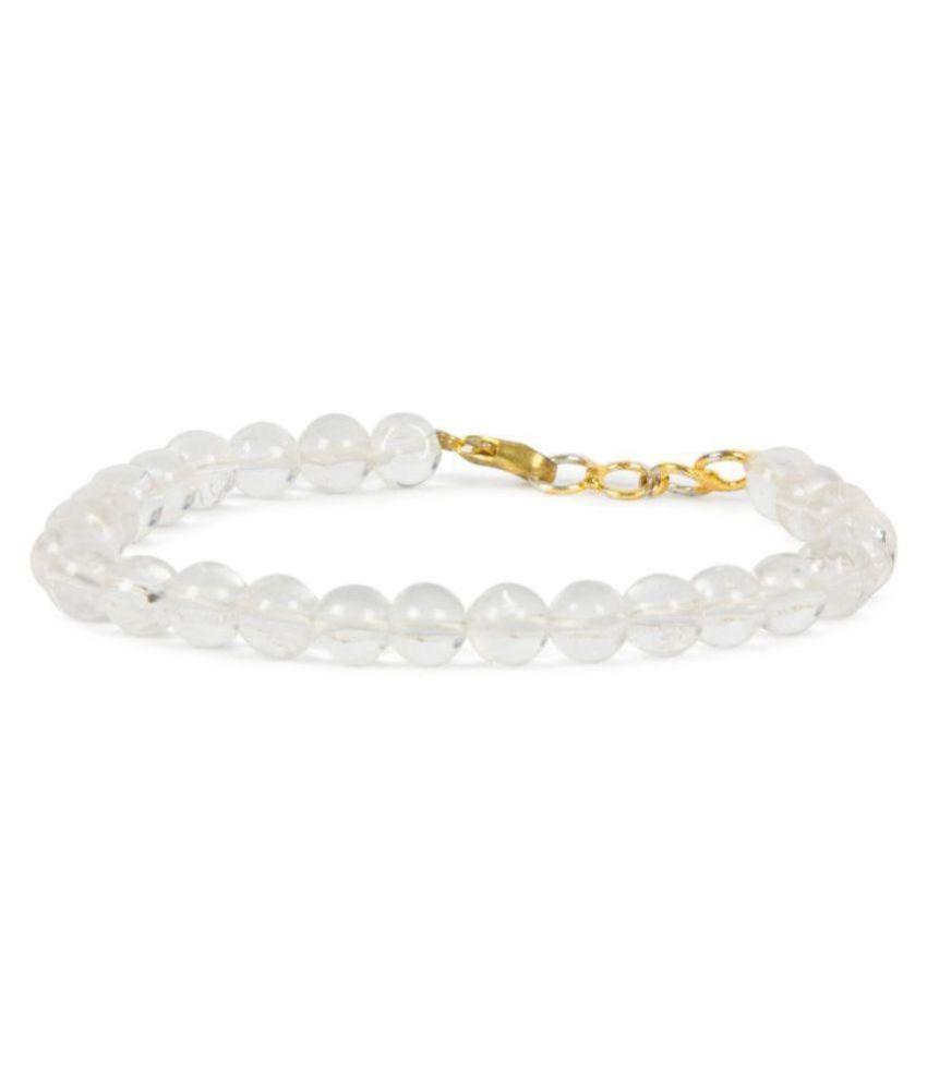 8mm White Clear Quartz Natural Agate Stone Bracelet