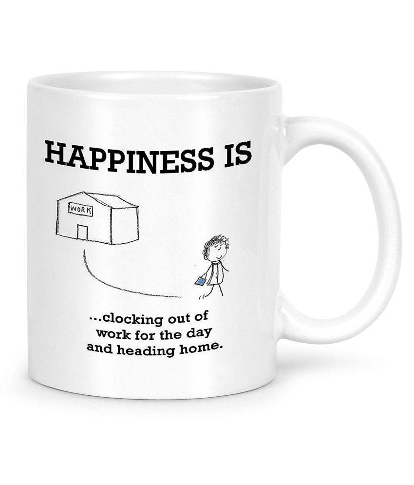Idream Quote Printed Ceramic Coffee Mug 1 Pcs 330 mL