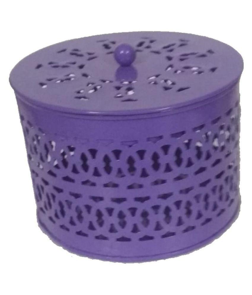 Sankalan Art Gallery Purple Iron Decorative Box - Pack of 1