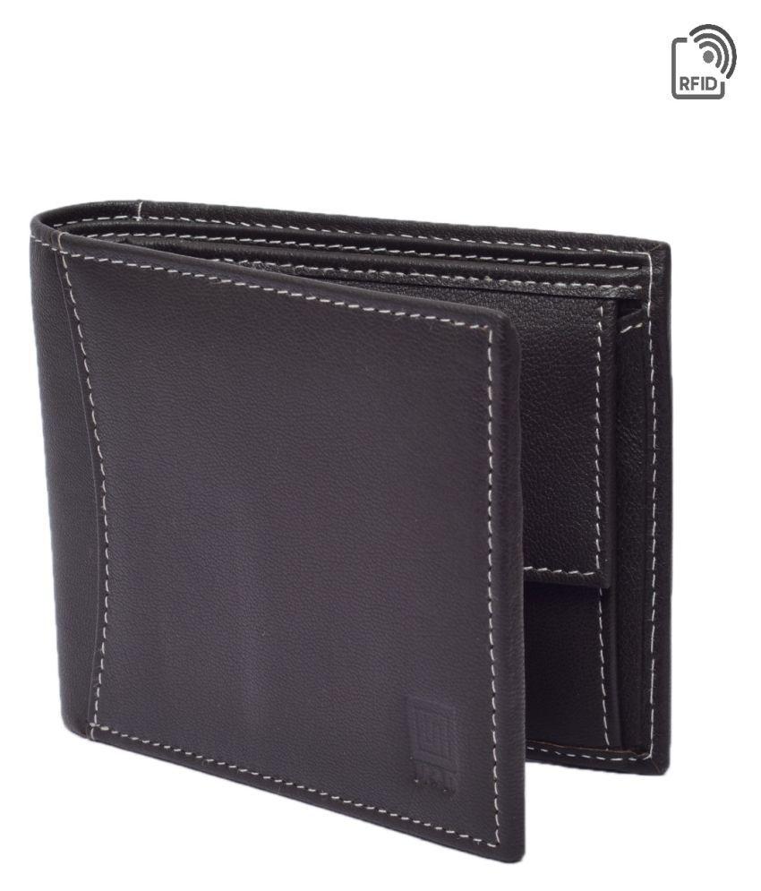 U+N Leather Brown Formal Regular Wallet
