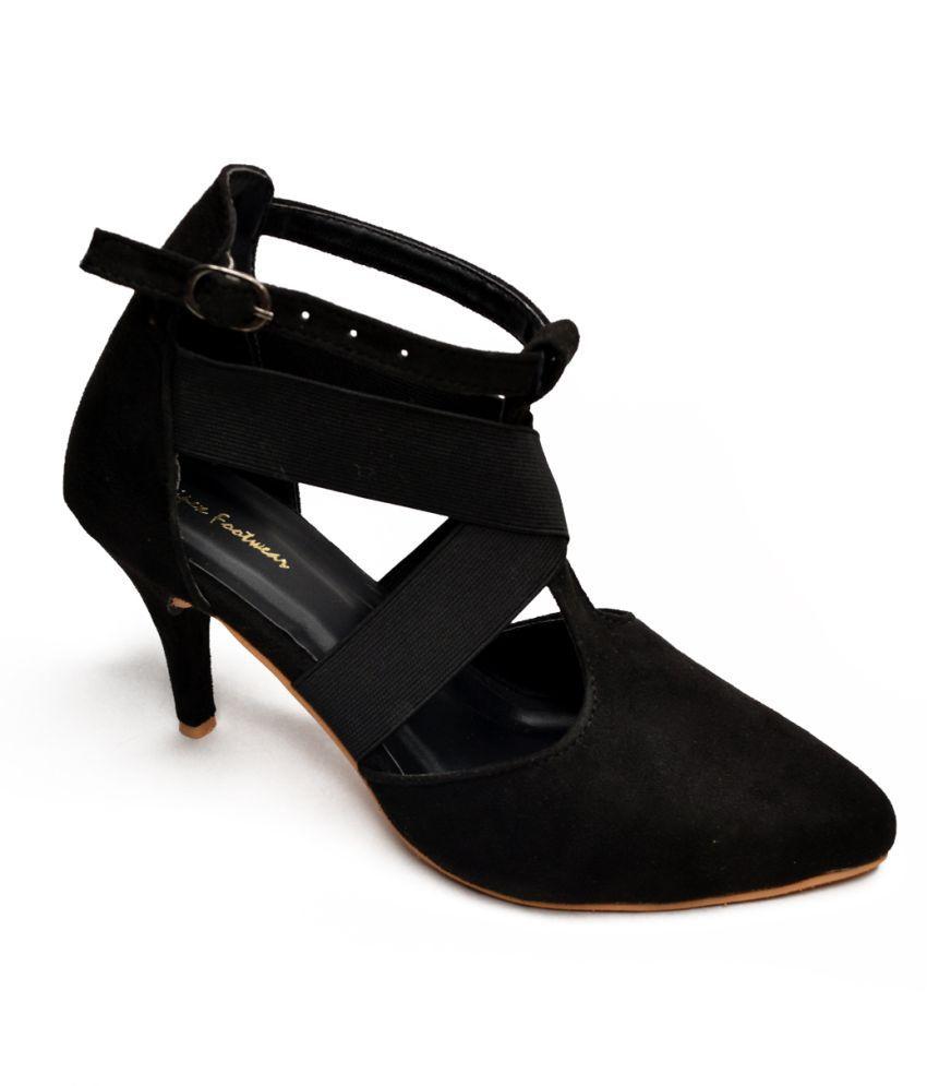 Footster Black Cone Heels